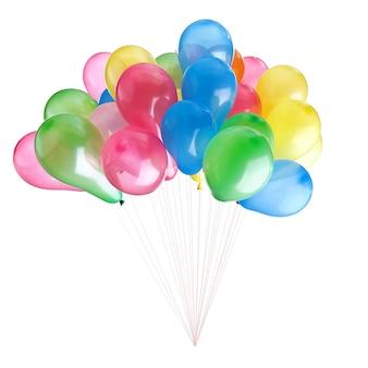 Kleur ballonnen geïsoleerd op wit