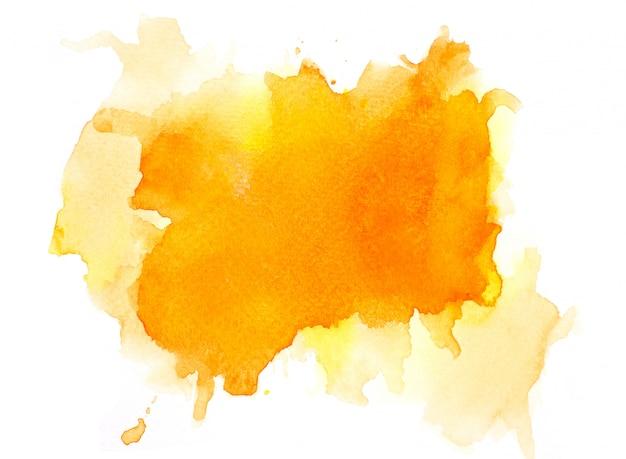 Kleur oranje aquarel.