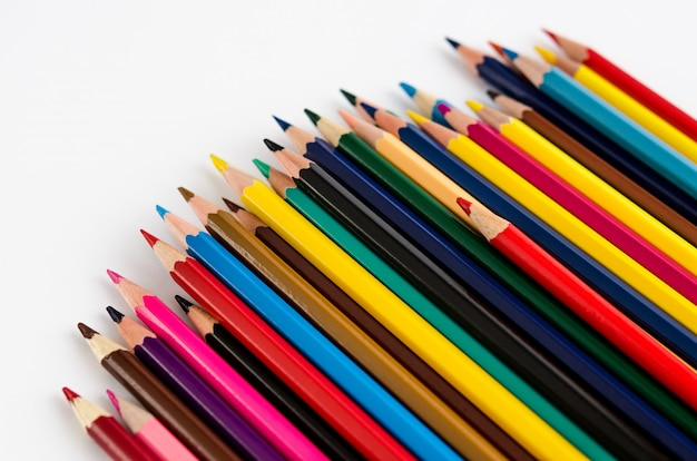 Kleur potloden geïsoleerd