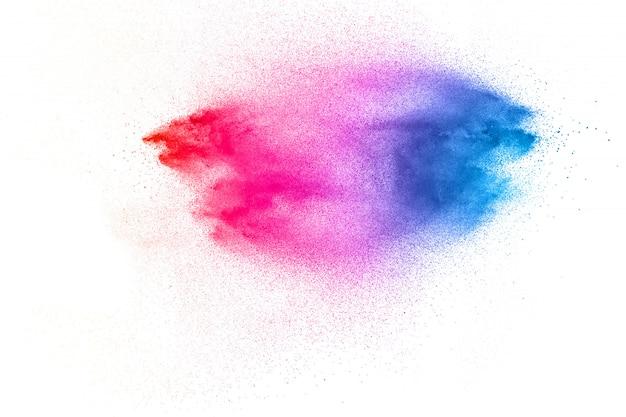 Kleur stof splash wolk op witte achtergrond