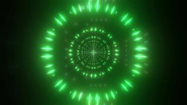 Kleur veranderende 4 k uhd reflecties deeltjes 3d illustratie