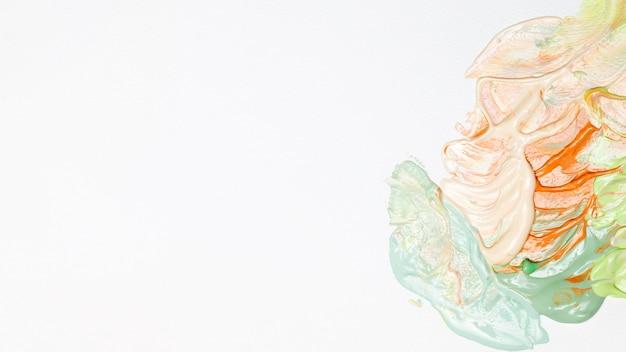 Kleuren gemengd met kopie-ruimte