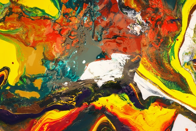 Kleuren schilderen kan worden gebruikt als een trendy achtergrond voor posters, kaarten, uitnodigingen, wallpapers.
