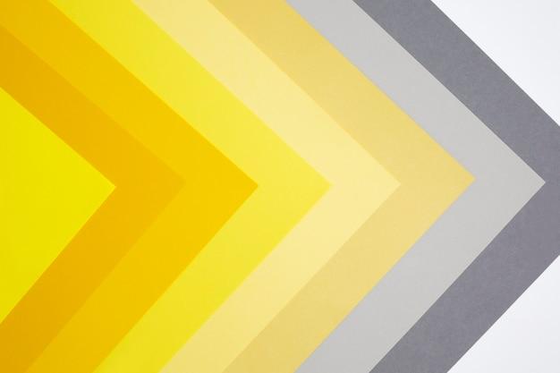 Kleuren van het jaar 2021. set van tinten illuminating en ultimate grey van papier.