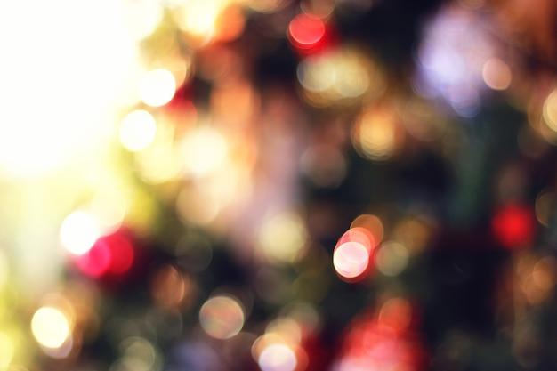 Kleurencirkel kerst bokeh