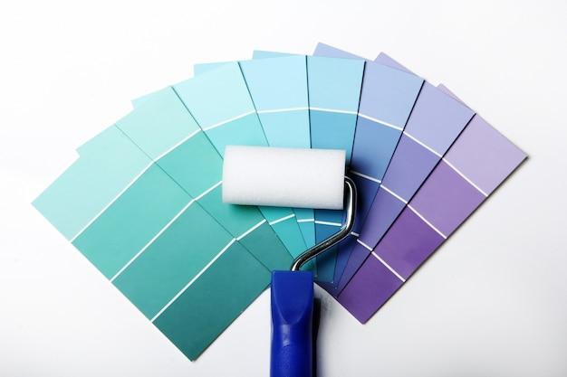 Kleurenpalet, catalogus of schema en roller