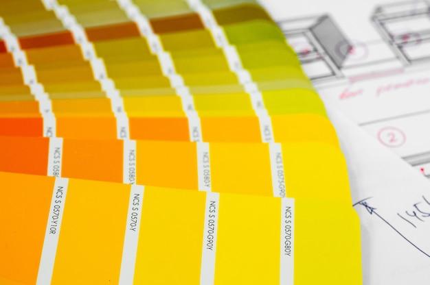 Kleurenpalet met diverse samples