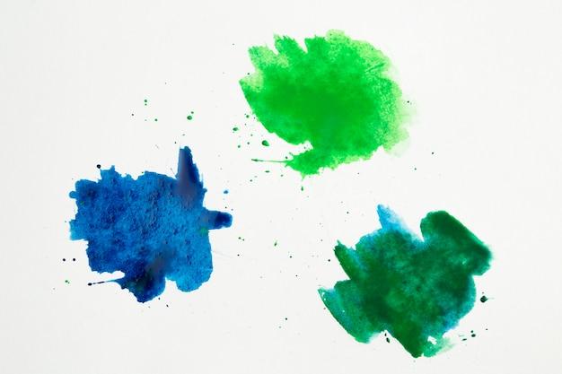 Kleurenpalet van aquarel vlekken