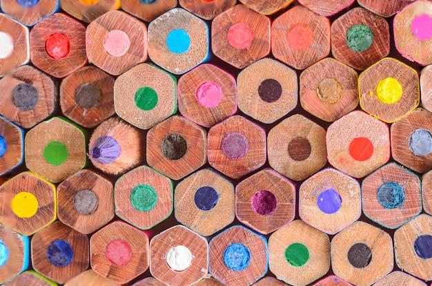 Kleurenpotloden als achtergrond