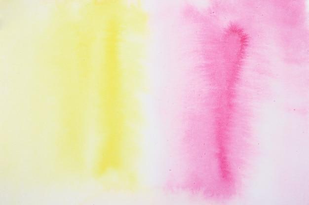 Kleurovergang roze en geel aquarel oppervlak