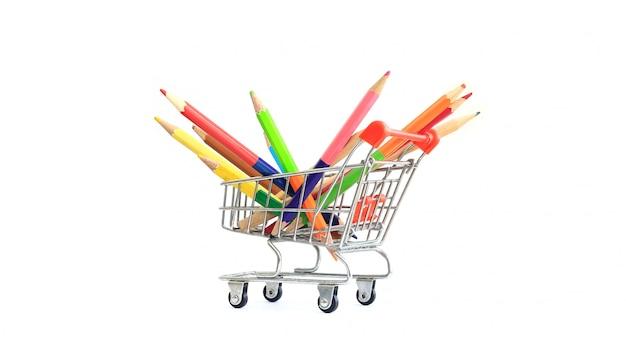 Kleurpotloden op uw winkelwagentje