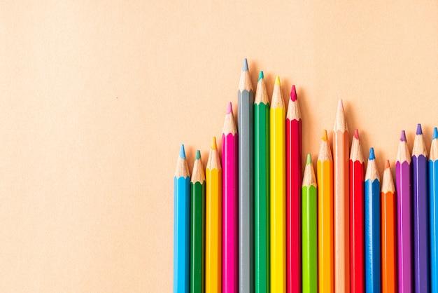 Kleurpotlood met kopie ruimte