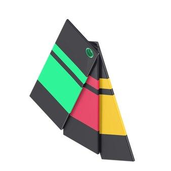 Kleurrijk 3d isometrisch kleurenpalet