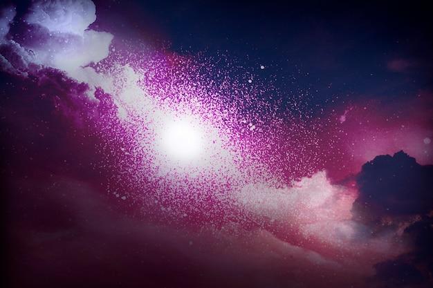 Kleurrijk abstract geweven universum