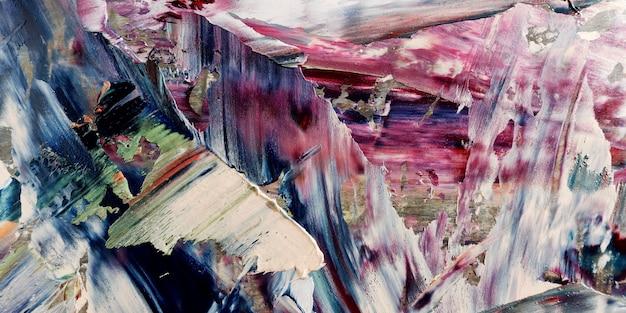 Kleurrijk abstract olieverfschilderij als achtergrond op canvas