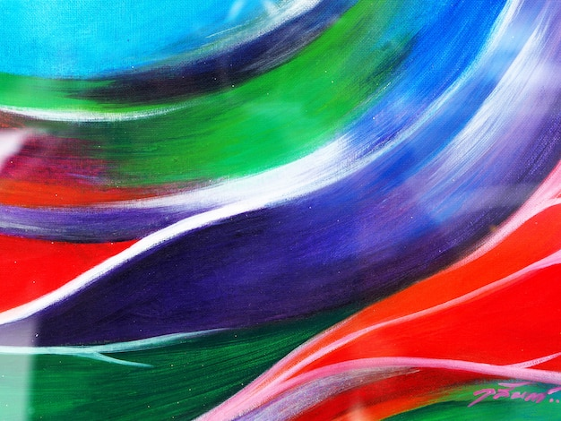 Kleurrijk abstract olieverfschilderij