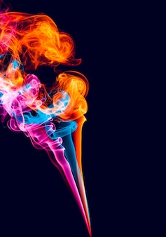 Kleurrijk abstract rookeffect