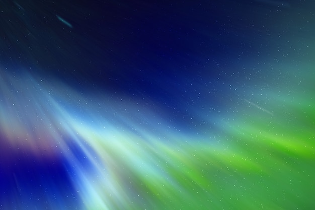 Kleurrijk aurora borealis-effect met sterrenhemel