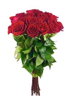 Kleurrijk bloemboeket van rode rozen.