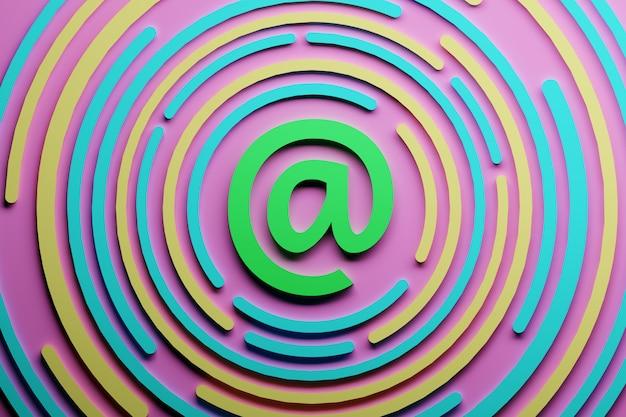 Kleurrijk e-mailteken