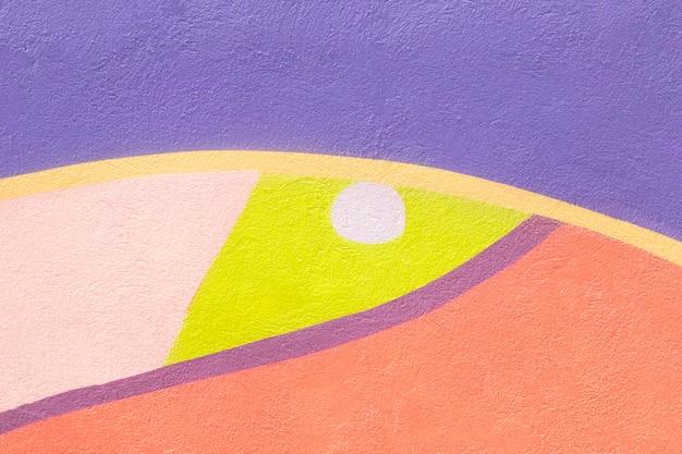 Kleurrijk geschilderde muurachtergrond