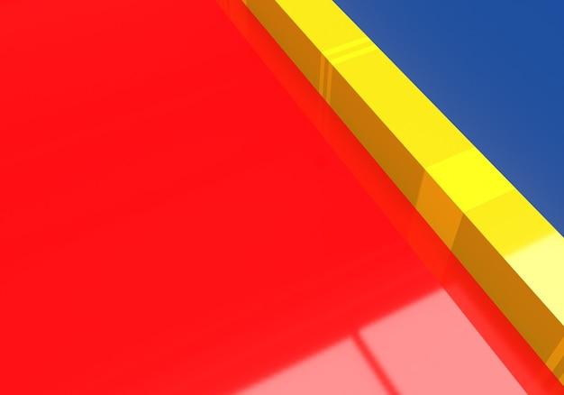 Kleurrijk glanzend plastic premium foto render