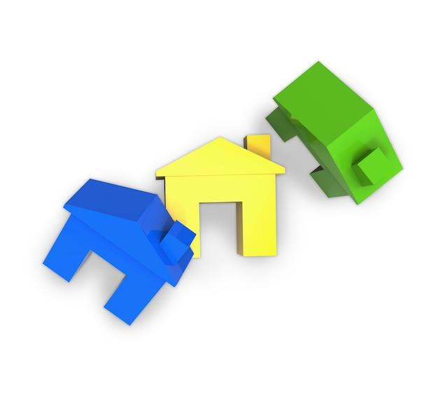 Kleurrijk mock-up huis op witte achtergrond