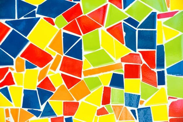 Kleurrijk mozaïekpatroon van park guell. kan worden gebruikt voor achtergrond en textuur