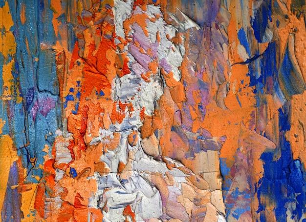 Kleurrijk olieverfschilderij op canvas abstracte achtergrond met textuur.