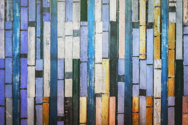 Kleurrijk oud houten de textuur van het muur houten materieel uitstekend behang als achtergrond