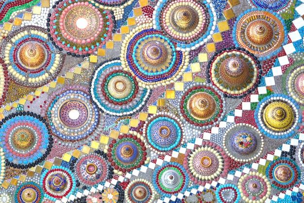 Kleurrijk patroon van benjarong voor achtergrond