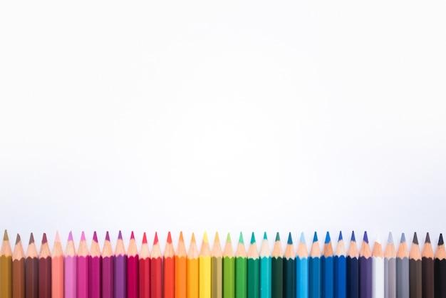 Kleurrijk potlodenframe