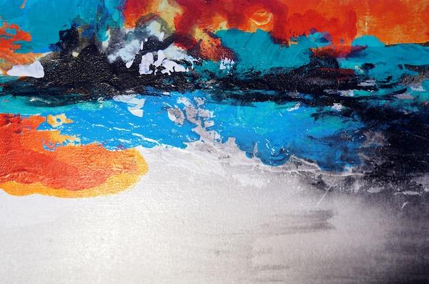 Kleurrijk schilderij textuur abstracte achtergrond.