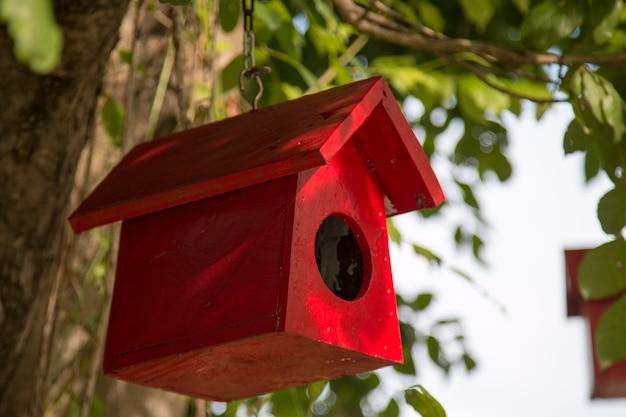 Kleurrijk vogelnest op de boom
