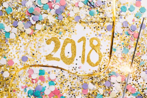 Kleurrijke 2018 achtergrond