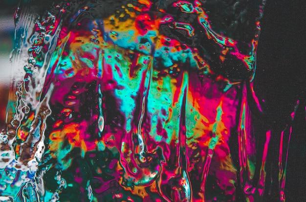 Kleurrijke abstracte waterdruppel schilderij achtergrond