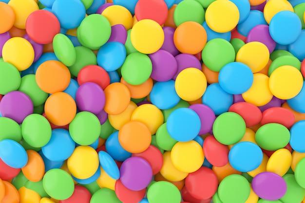Kleurrijke achtergrond. 3d-weergave