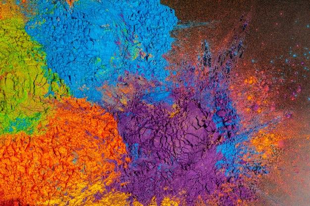 Kleurrijke achtergrond gemaakt van indiase kleurrijke kleurstoffen