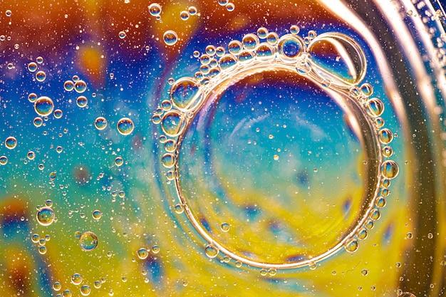Kleurrijke achtergrond met bubbels. abstracte achtergrond. detailopname.