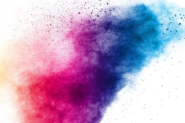 Kleurrijke achtergrond van de explosie van het pastelkleurpoeder