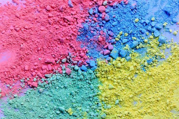 Kleurrijke achtergrond van krijtpoeder