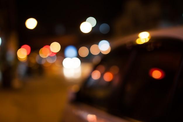 Kleurrijke achtergrond wazig bokeh textuur en intreepupil fonkelende lichten. Premium Foto
