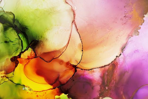 Kleurrijke alcohol inkt schilderij