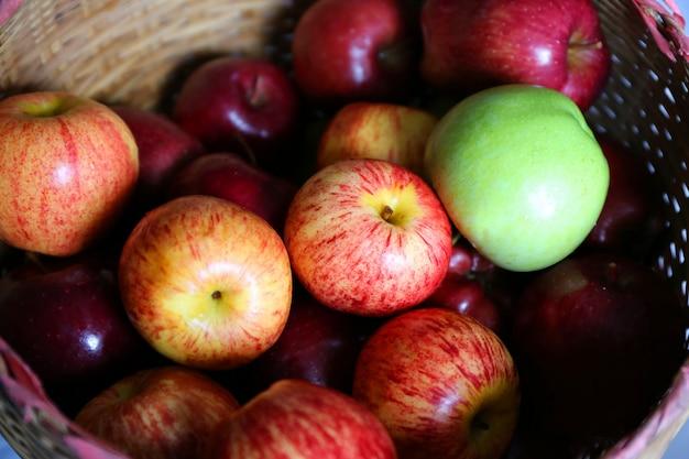 Kleurrijke appel