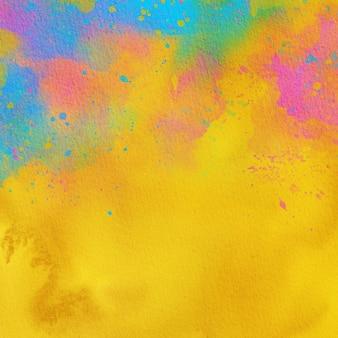 Kleurrijke aquarel achtergrondstructuur, aquarel papier