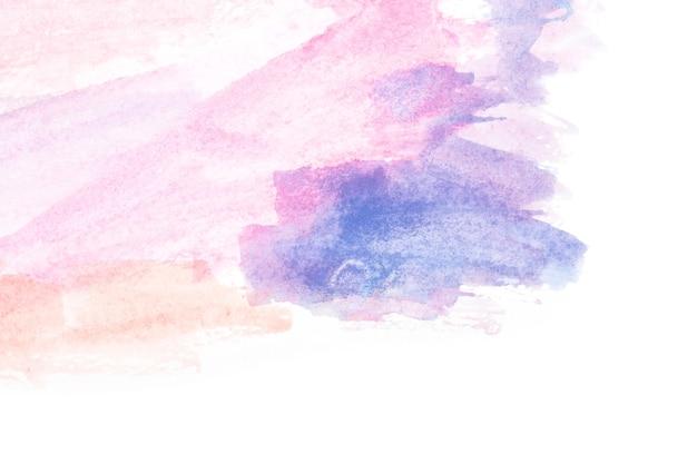 Kleurrijke aquarel paarse en blauwe achtergrond.