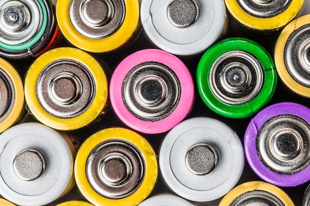 Kleurrijke batterij