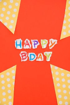 Kleurrijke belettering gelukkige verjaardag