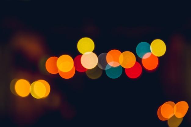 Kleurrijke bijna onduidelijke beeld bokeh uitstekende colortone