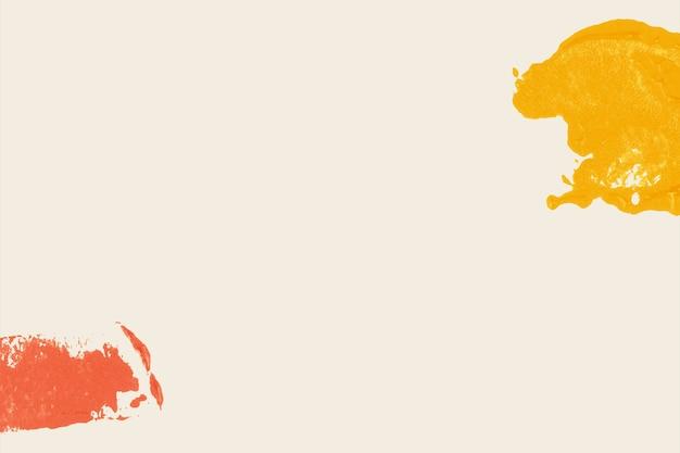 Kleurrijke blokdrukrand op beige achtergrond